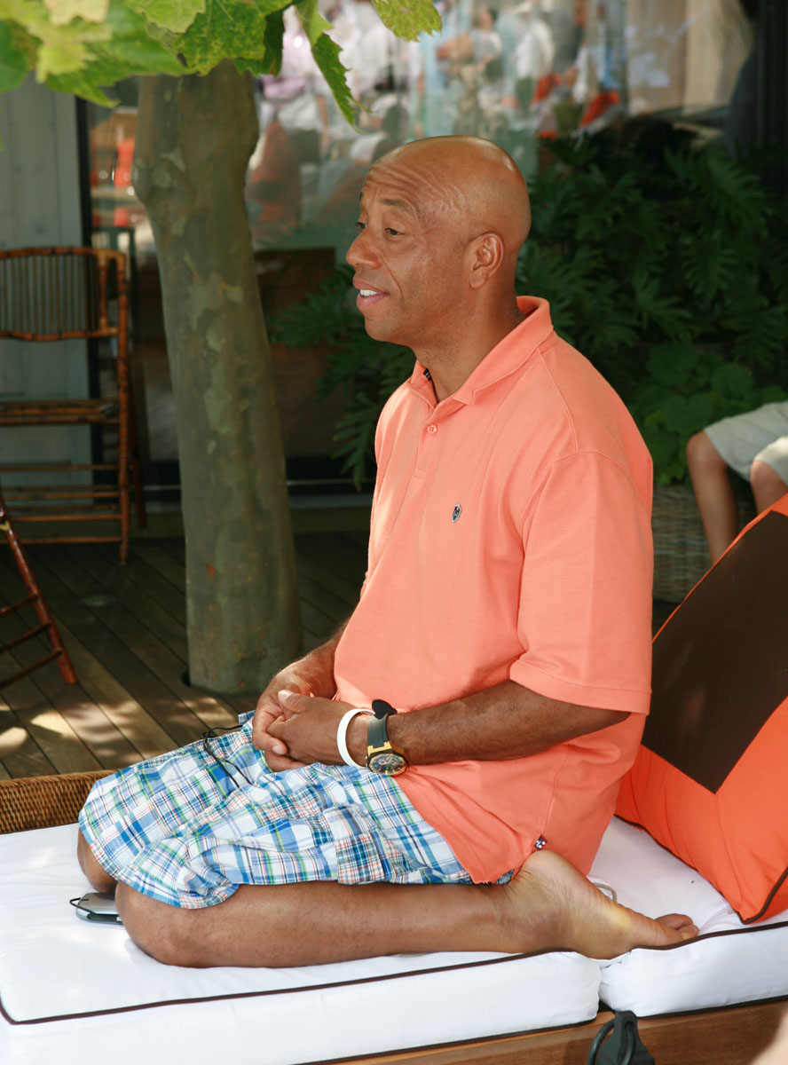 Russell Simmons Yoga Pose