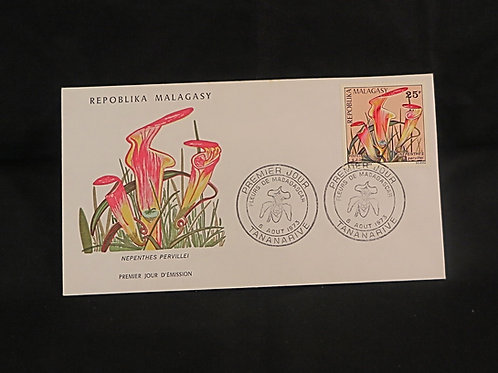 Madagascar Nepenthes .pervillei FDC 1973