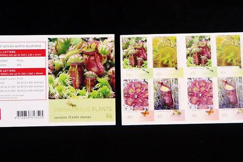 Australia Carnivorous Plant. 10 Stamp Booklet