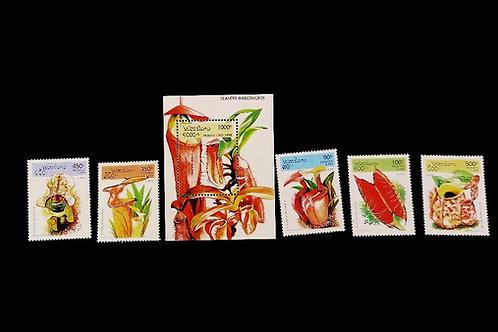 Laos Carnivorous Plant Stamps