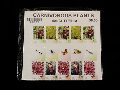 Australian Carnivorous plant stamps Gutter set