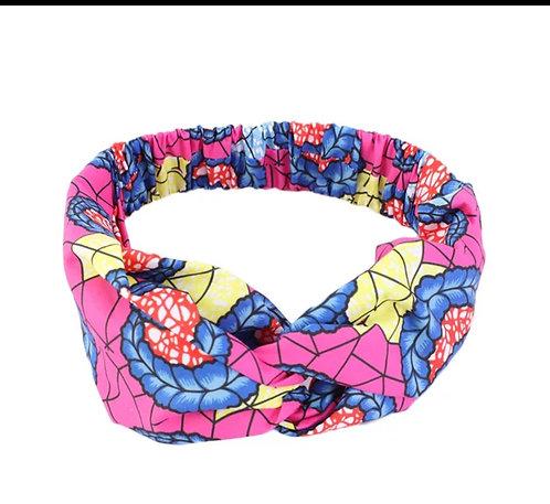 African print headband- Pink