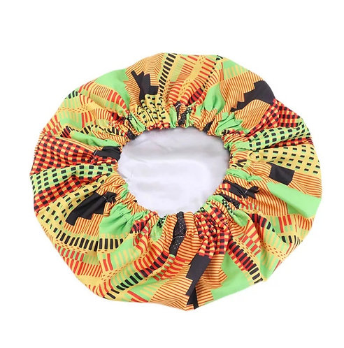 Satin kente bonnet (nightcap)