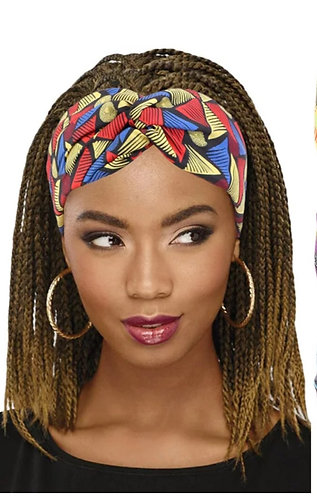African print headband