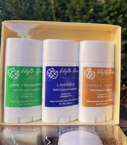 3 pk Natural Deodorant