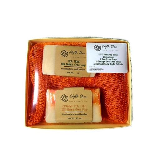 2pk - Natural Shea Soap gift set