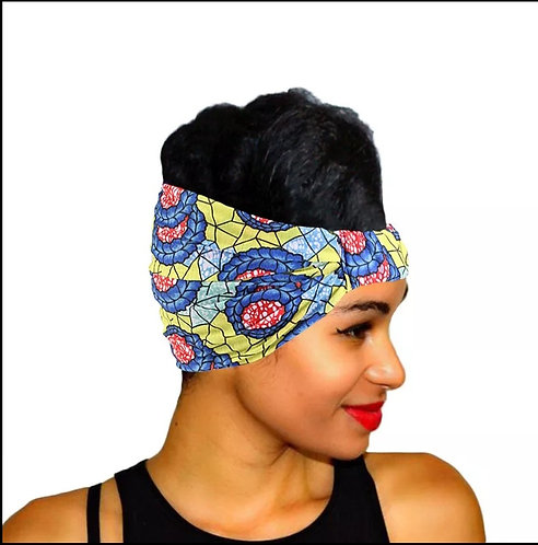African print headband- Yellow