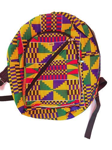 Kente print  backpack - Handmade in Ghana