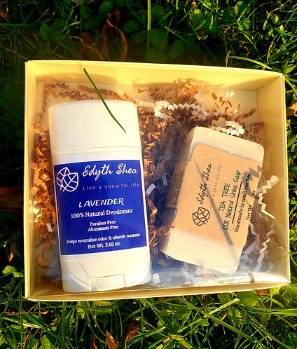Natural deodorant and Soap gift set