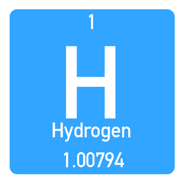 Icon of the Hydrogen element