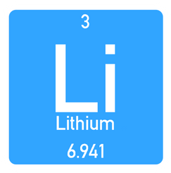 Lithium element icon
