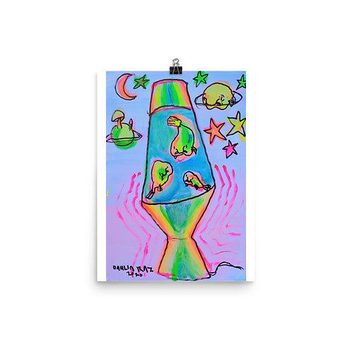 Blob Fish Lava Lamp Poster
