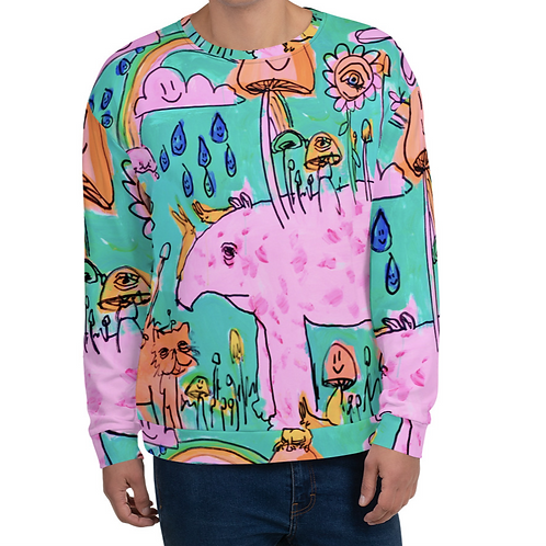 Tapir and Cat Unisex Sweatshirt
