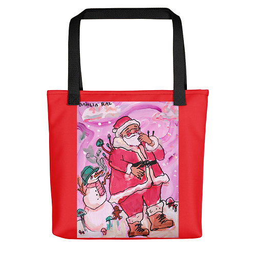Frosty and Santa Tote bag