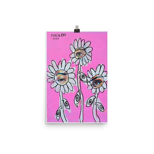 Eye Flowers Poster