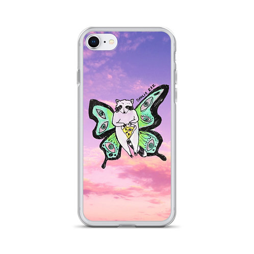 Butterfly Raccoon iPhone Case