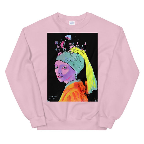 Girl with a Pearl Earring Unisex Sweatshirt