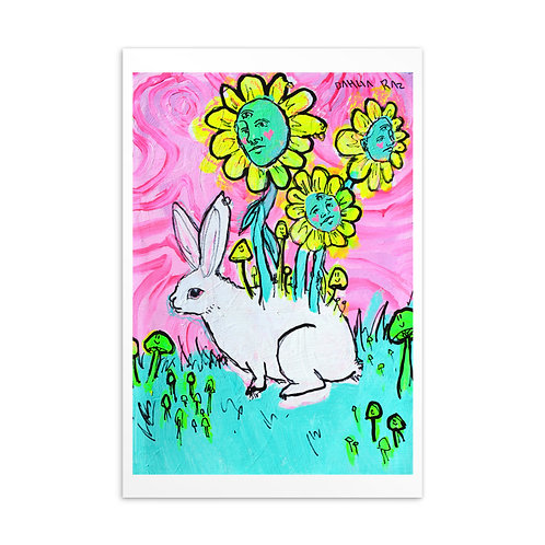 Rabbit and Flower Friends