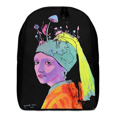 Girl with a Pearl Earring Minimalist Backpack