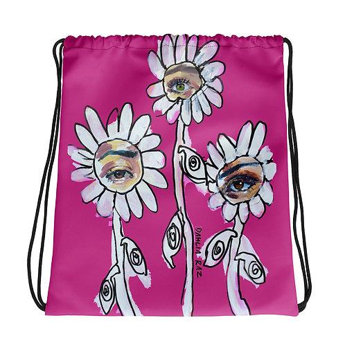 Eye Flower Drawstring bag
