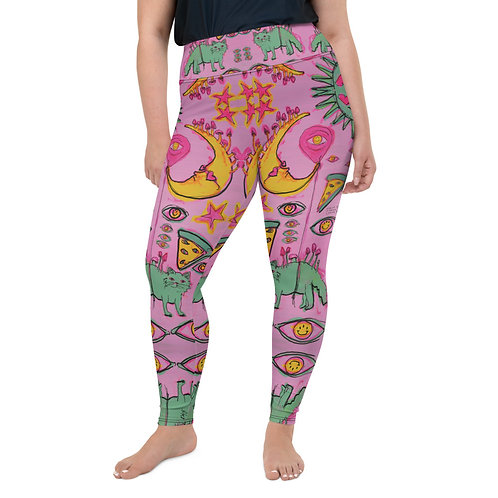Cats and Moons Plus Size Leggings
