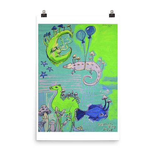 Camel and Chameleon Poster
