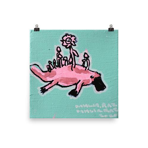 "Platypus Poster - 10"" x 10"""