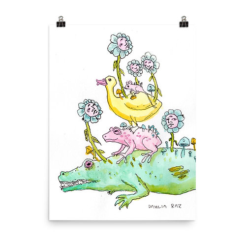Alligator, Frog, Duck and Mouse