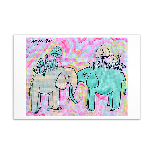 Elephants Mini Print