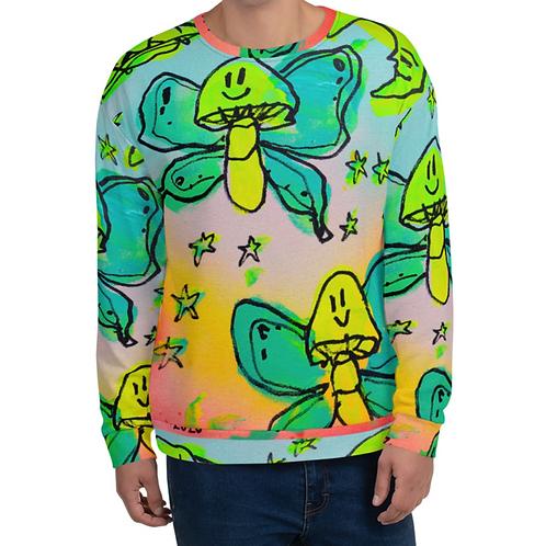 Mushroom Butterflies in Space Unisex Sweatshirt