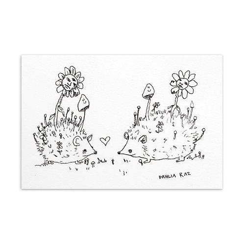 Hedgehogs Mini Print