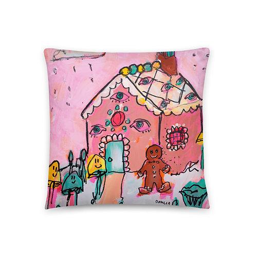Gingerbread House Pillow