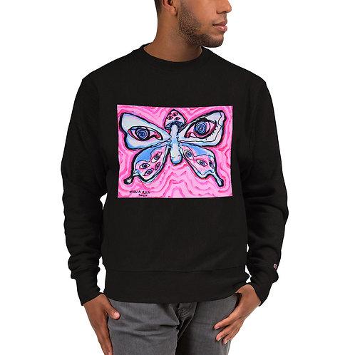 Mushroom Butterfly Champion Sweatshirt
