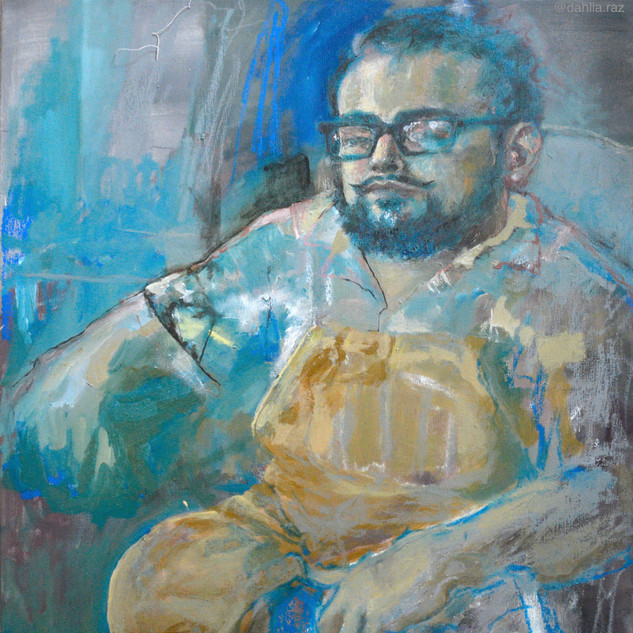 An MIT Senior whom I painted at his Frat house on Beacon Street in Boston.