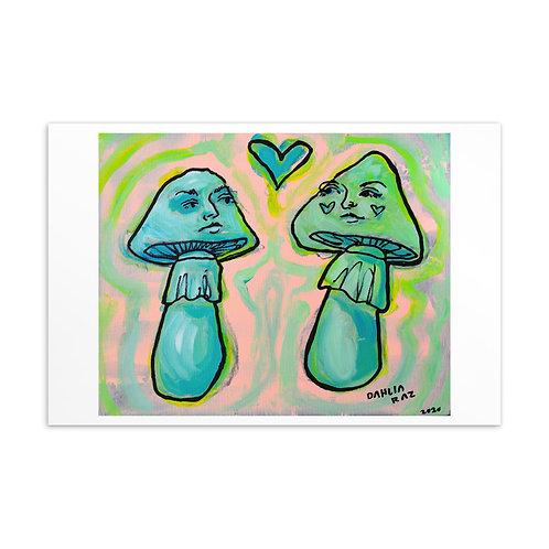 Mushrooms Mini Print