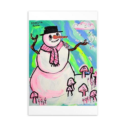 Fun Snow Person Postcard