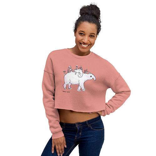 Tapir and Chameleon Crop Sweatshirt