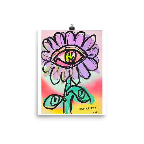 Eye Flower Poster