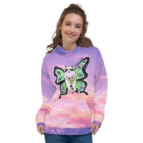 Butterfly Raccoon Unisex Hoodie