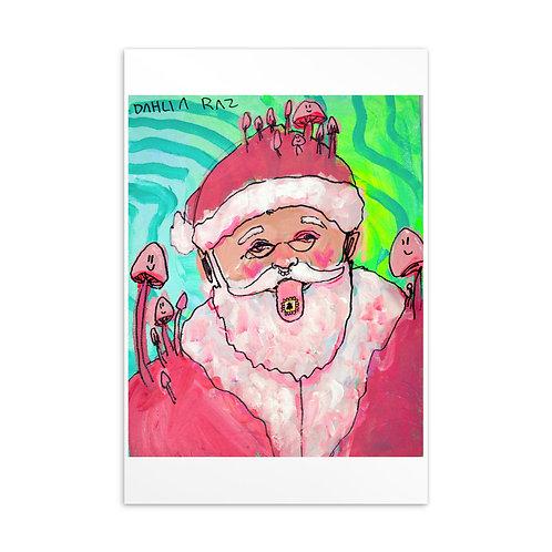Trippy Santa Postcard