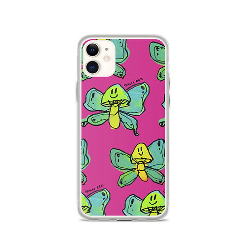 Mushroom Butterfly iPhone Case