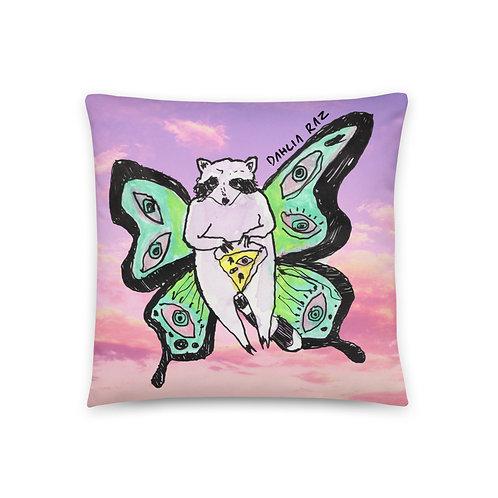 Butterfly Raccoon Pillow