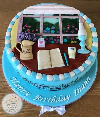 Bespoke cake, garden cake, window cake, writers cake, desk cake, unique cake, hand-painted cake, Cakes, bespoke cakes, unique cakes, birthday cakes, cake, cakes, wallingford, wallingford cakes, wallingford bakery, cotswolds, cotswold, cotswold bakery, cotswold cakes, cotswolds cakes, wedding cakes, event cakes, corporate cakes,