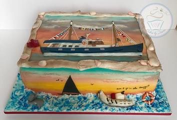 Cakes, bespoke cakes, unique cakes, birthday cakes, cake, cakes, wallingford, wallingford cakes, wallingford bakery, cotswolds, cotswold, cotswold bakery, cotswold cakes, cotswolds cakes, wedding cakes, event cakes, corporate cakes, Boat cakes, ship cakes, nautical cake, sunset cakes,