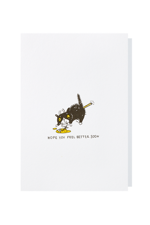Hope you feel better soon - Greeting card