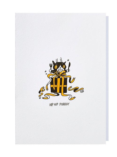 Hip hip purray - Greeting card