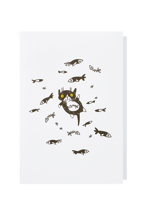 Flying fishes - Greeting card