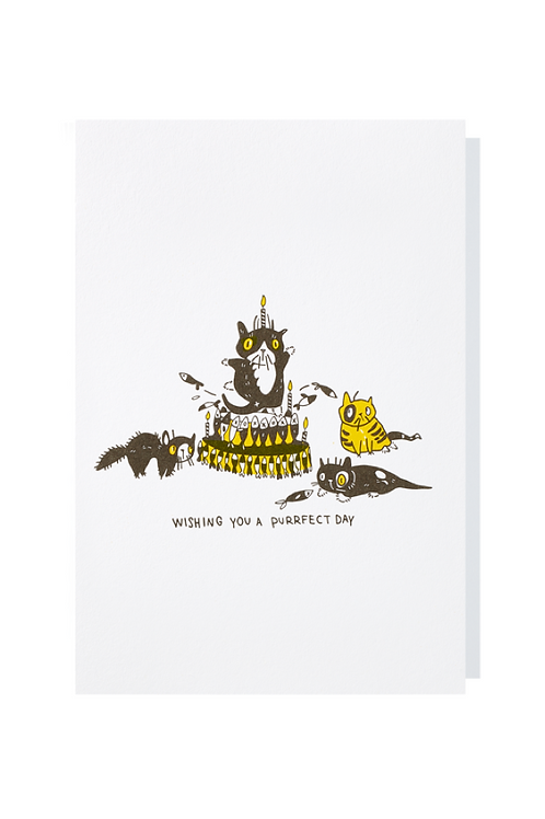 Wishing you a purrfect day - Greeting card