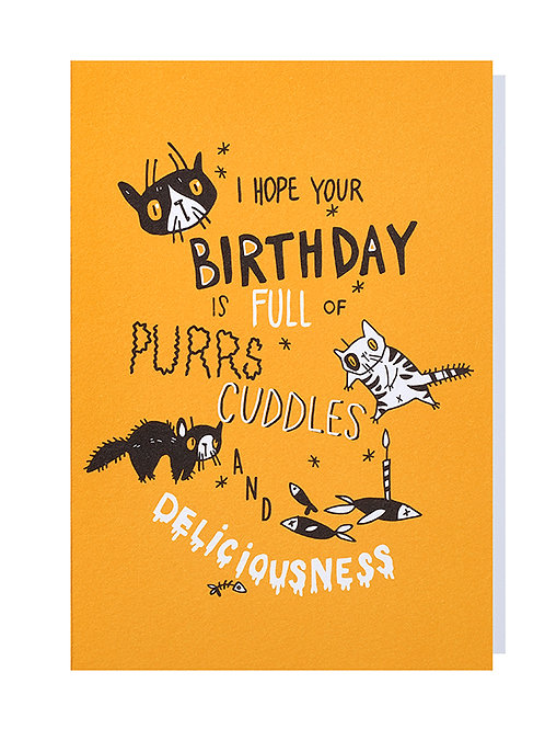 Full of purrs and cuddles - Greeting card