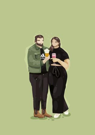 CUSTOM PORTRAIT - KAAT & BOY